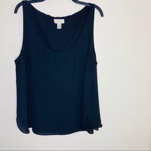 Loft black blouse size XL